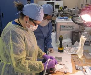 CAPTION: ## Dental surgeons from Boston University are testing new tool at Fraunhofer USA CMI laboratories.