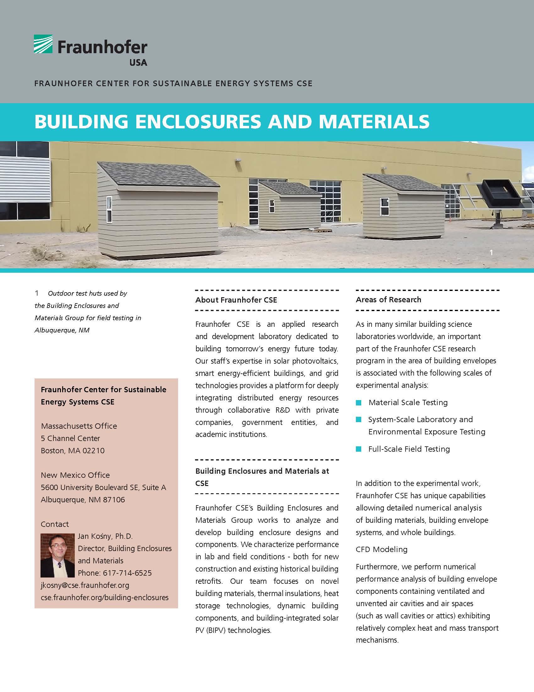 Building Enclosures and Materials