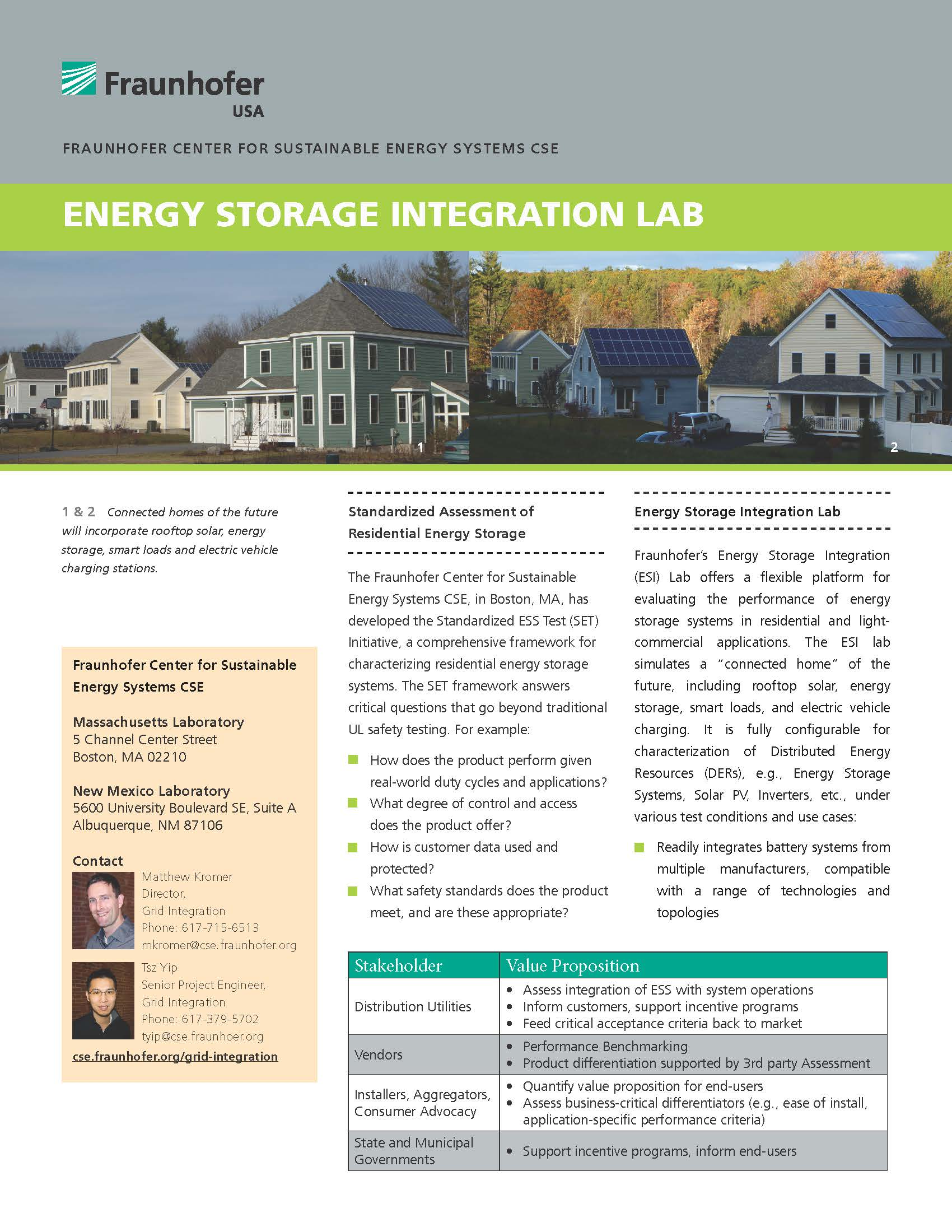 Energy Storage Integration Lab