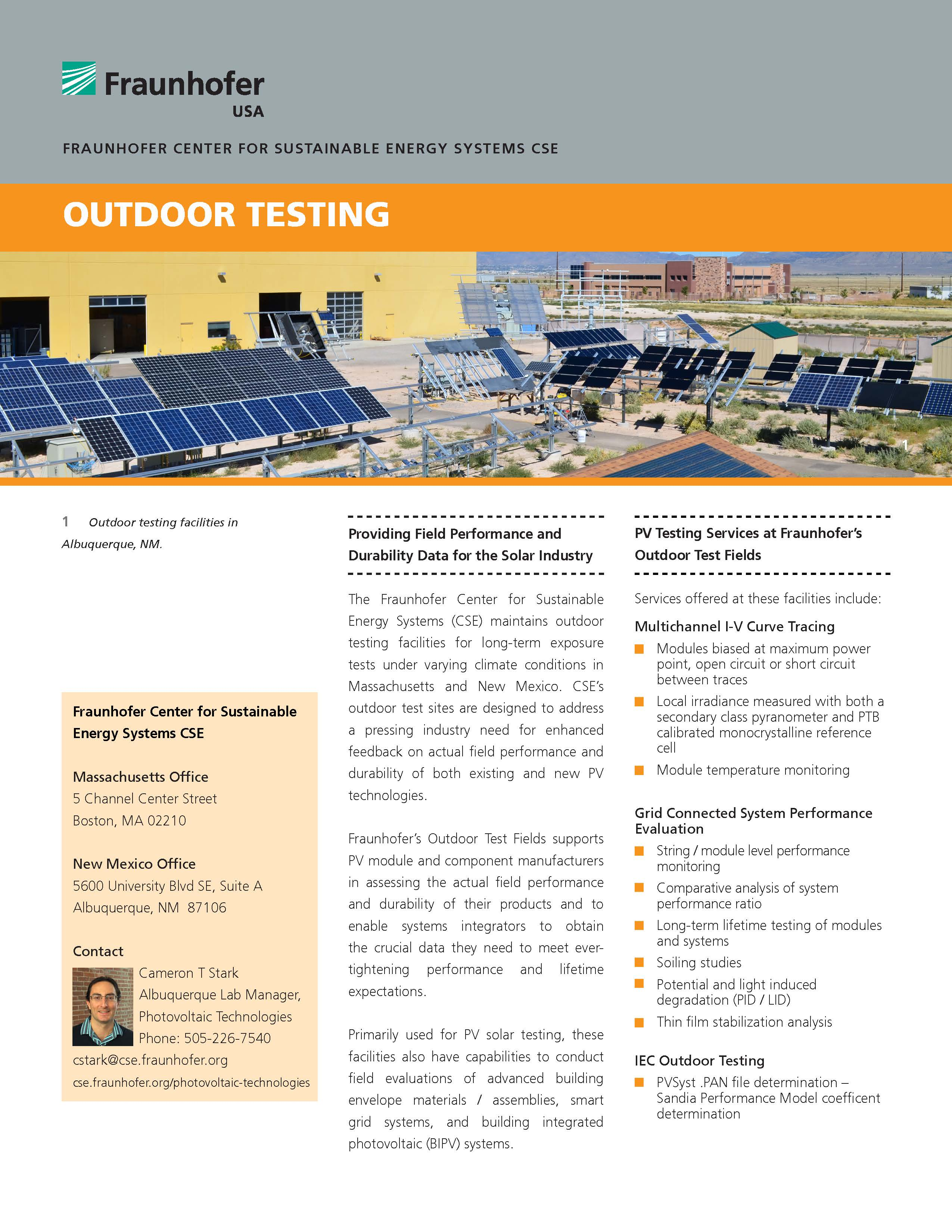 Outdoor Testing