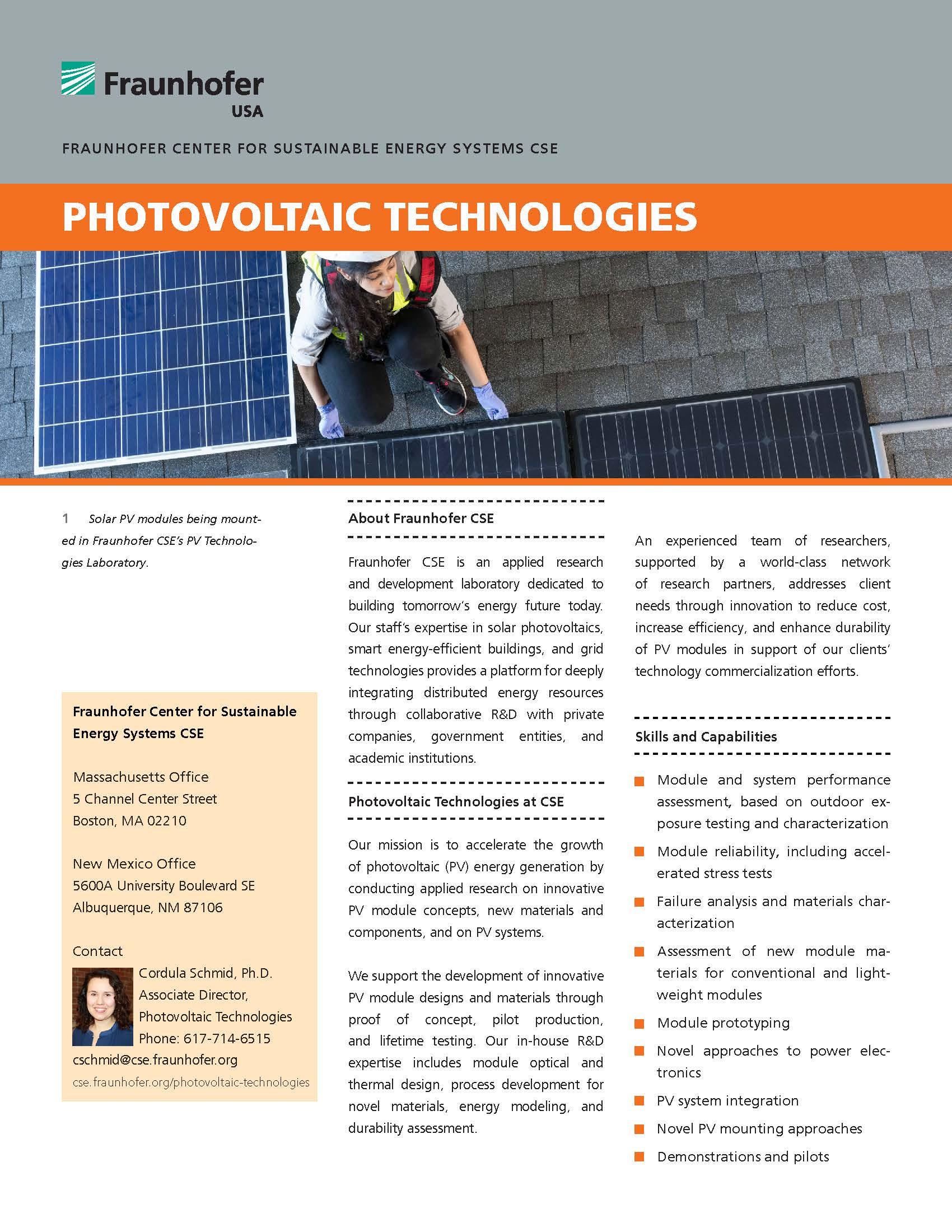 Photovoltaic Technologies