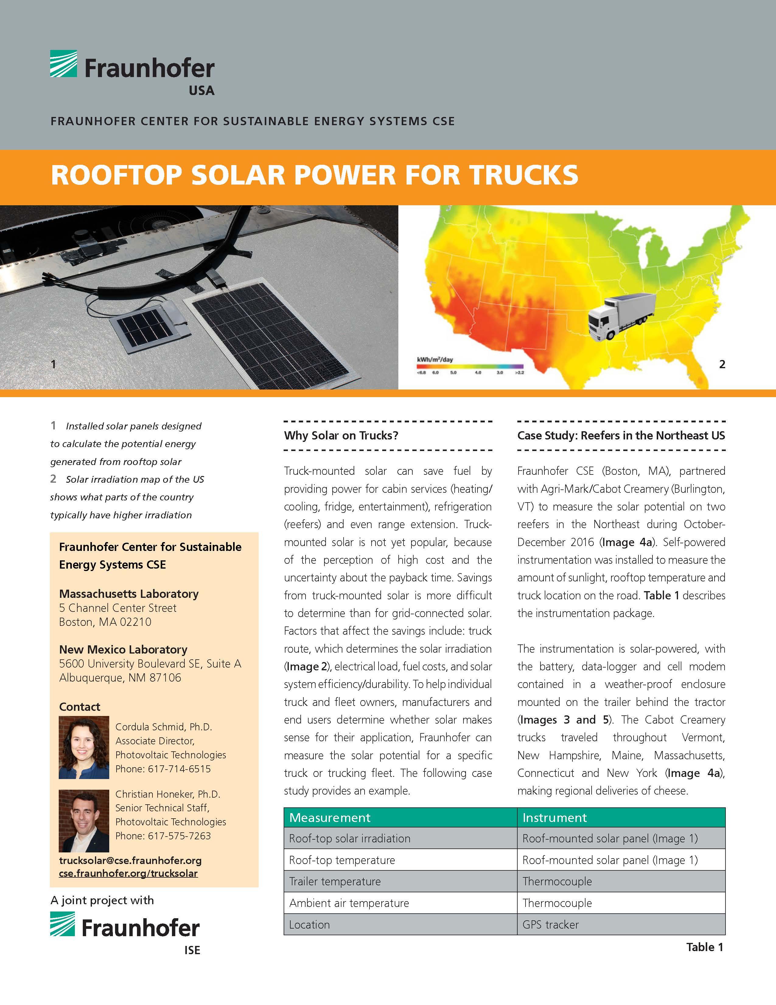 Rooftop Solar Power for Trucks