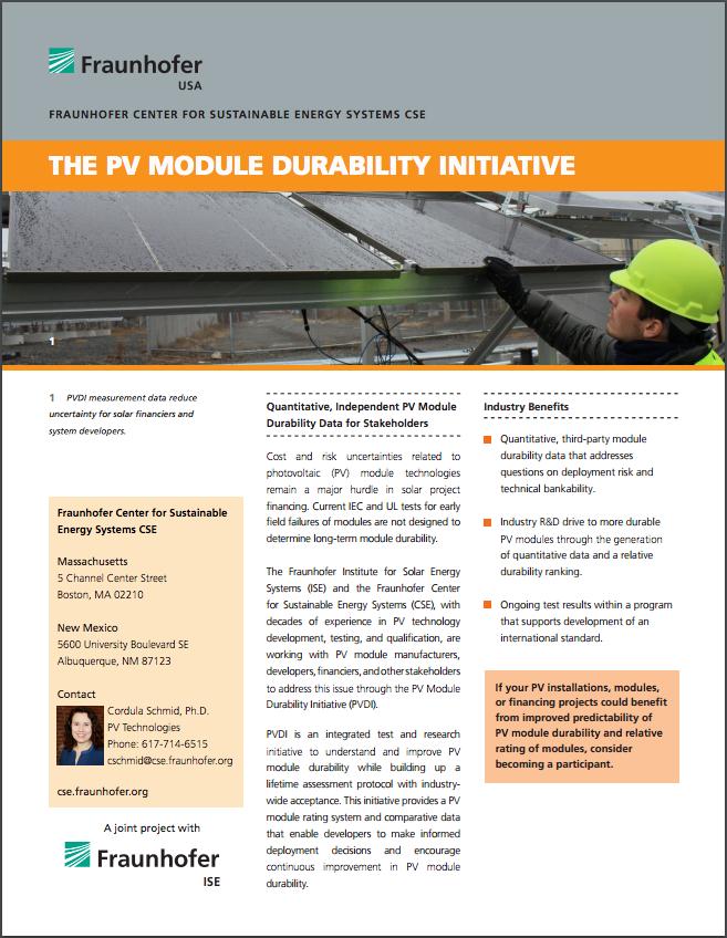 PV Module Durability Initiative
